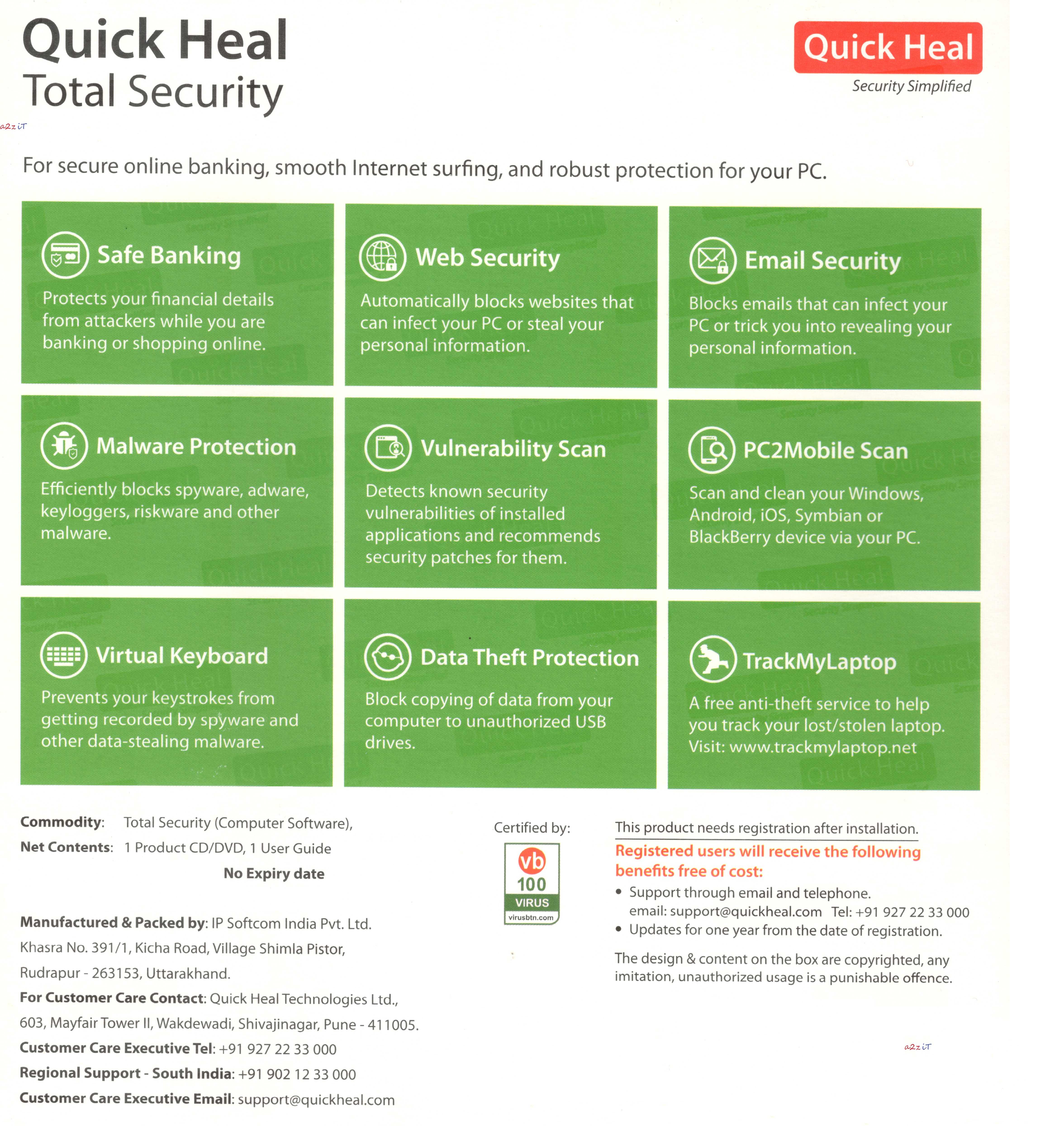 quick heal product key free 2017